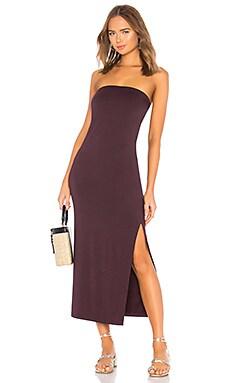 Купить Платье side slit - Enza Costa, Без бретель, США, Красное вино