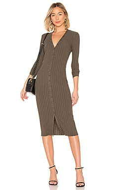 Rib Cardigan Midi Dress Enza Costa $185