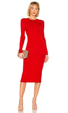Rib Keyhole Midi Dress Enza Costa $176