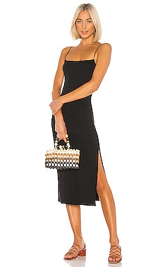 Strappy Side Slit Dress Enza Costa $198 BEST SELLER