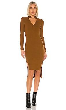Rib Long Sleeve Step Hem Dress Enza Costa $264