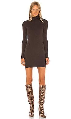 Rib Turtleneck Mini Dress Enza Costa $158