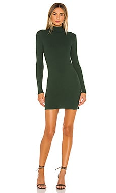 Rib Turtleneck Mini Dress Enza Costa $158