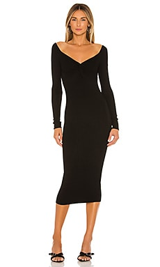 Off The Shoulder Twist Midi Dress Enza Costa $224
