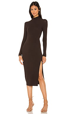 Brushed Rib Long Sleeve Raglan Midi Dress Enza Costa $264