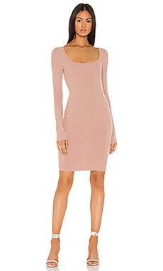 Brushed Rib Square Neck Mini Dress Enza Costa $224