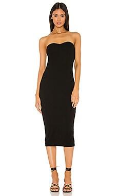 Silk Rib Strapless Sweetheart Midi Dress Enza Costa $286