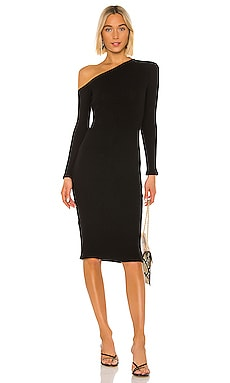 Sweater Knit Angled Midi Dress Enza Costa $224