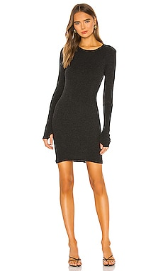 Cashmere Blend Thermal Cuffed Mini Dress Enza Costa $242