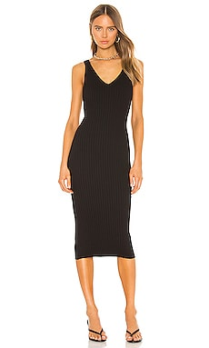Rib Sweater Knit Tank Midi Dress Enza Costa $176 BEST SELLER