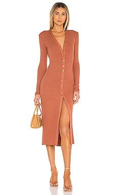 Silk Rib Cardigan Midi Dress Enza Costa $275