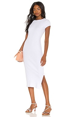 Rib Cap Sleeve Midi Dress Enza Costa $185