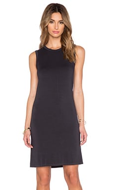 Enza Costa Easy Muscle Tank Dress in Phantom