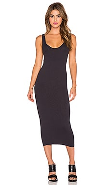 Enza Costa Rib Tank Dress in Phantom