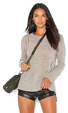 Cashmere Side Slit Crewneck Sweater