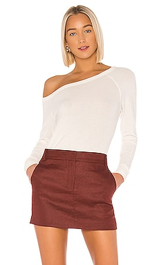 Peached Off The Shoulder Long Sleeve Enza Costa $145