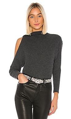 Rib Long Sleeve High Neck Sweater Enza Costa $194