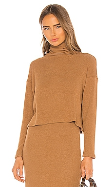 Sweater Knit Cropped Long Sleeve Turtleneck Enza Costa $154 BEST SELLER