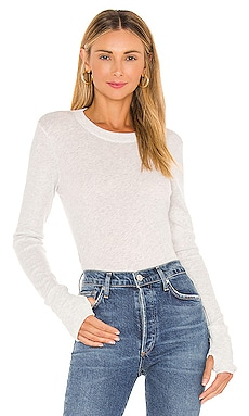 Cashmere Fitted Crew Neck Sweater Enza Costa $196