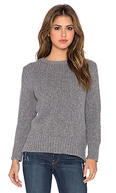 Enza Costa Loose Sweater in Grey Melange