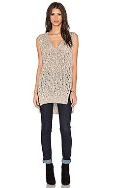 Enza Costa Easy V-Neck Tunic in Dark Natural
