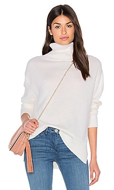 Loose Turtleneck Sweater en Blanco