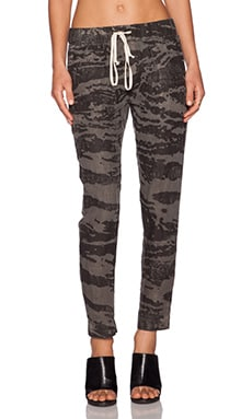 Enza Costa Linen Pant in Army Cahira