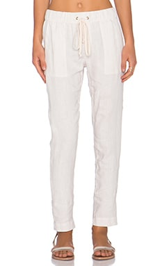 Enza Costa French Linen Pant in Sandshell