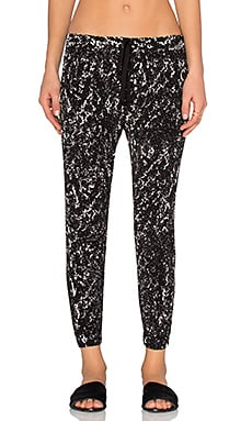 Enza Costa Lounge Pant in Chalk Print