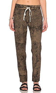 Enza Costa Linen Pant in Black Olive