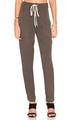 Enza Costa Easy Pant in Black Olive