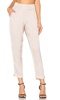 Pleated Easy Pant in Pink Beige