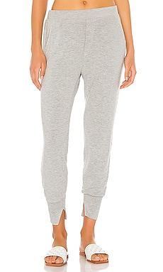 Peached Jersey Split Cuff Jogger Enza Costa $136 BEST SELLER