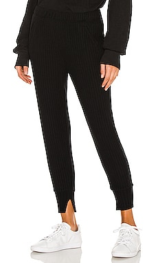 Sweater Rib Split Cuff Jogger Enza Costa $185 NEW