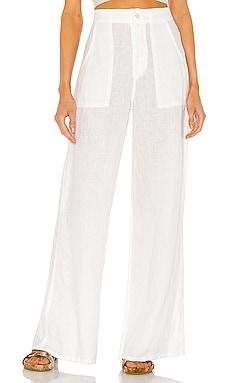 Linen High Waist Wide Leg Pant Enza Costa $275