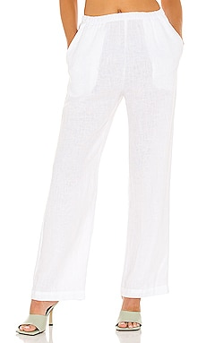 X REVOLVE Linen High Waisted Lounge Pant Enza Costa $225