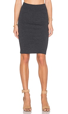 Enza Costa Pencil Skirt in Charcoal
