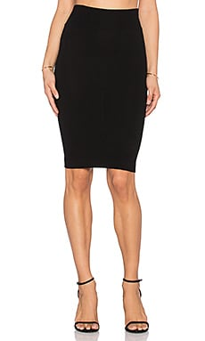 Enza Costa Pencil Skirt in Black