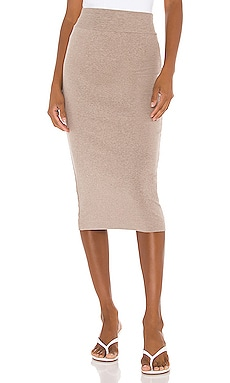 Cotton Rib Pencil Skirt Enza Costa $136