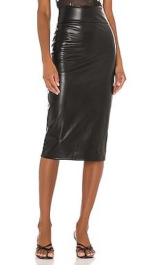 Vegan Leather Midi Pencil Skirt Enza Costa $224
