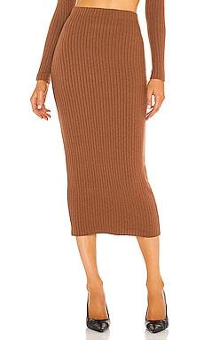 Sweater Rib Pencil Skirt Enza Costa $145