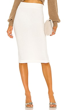 Brushed Sweater Knit Skirt Enza Costa $145 NEW