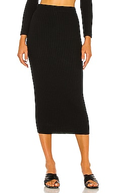 Sweater Rib Pencil Skirt Enza Costa $124
