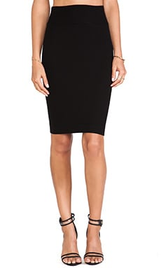 Silk Rib Pencil Skirt