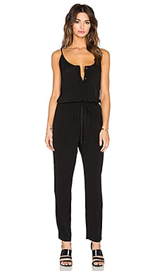 Enza Costa Strappy Jumpsuit in Black
