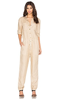 Enza Costa Utility Jumpsuit in Feather Grey