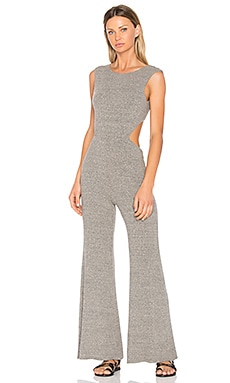 Rib Wrap Jumpsuit in Heather Grey