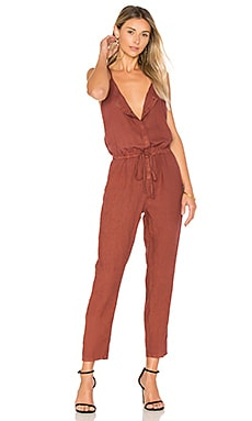 French Linen Jumpsuit en Sable
