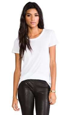 Enza Costa Loose Short Sleeve Crew Tee in White