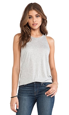 Enza Costa Sheath Tank in Light Heather Grey
